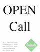 "poster for ""Open Call"" Exhibition"