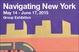 "poster for ""Navigating New York"" Exhibition"