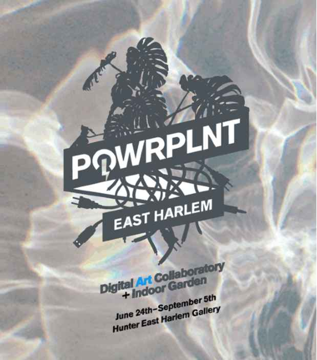 "poster for ""POWRPLNT East Harlem: Digital Art Collaboratory +  Indoor Garden"" Exhibition"