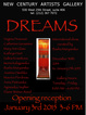 "poster for ""Dreams"" Exhibtiion"