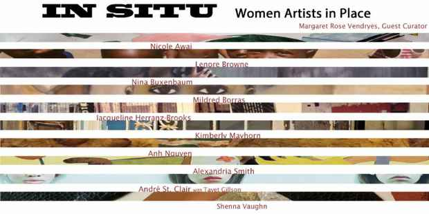 "poster for ""IN SITU: Women Artist in Place"" Exhibition"