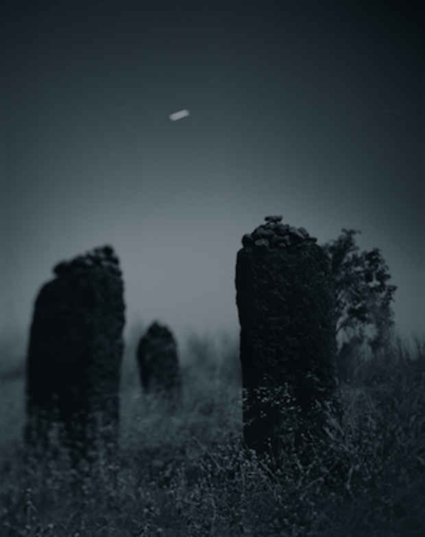 "poster for Barbara Yoshida ""Megaliths by Moonlight"""