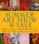"poster for ""2015 Summer Art Show and Sale"" Exhibition"