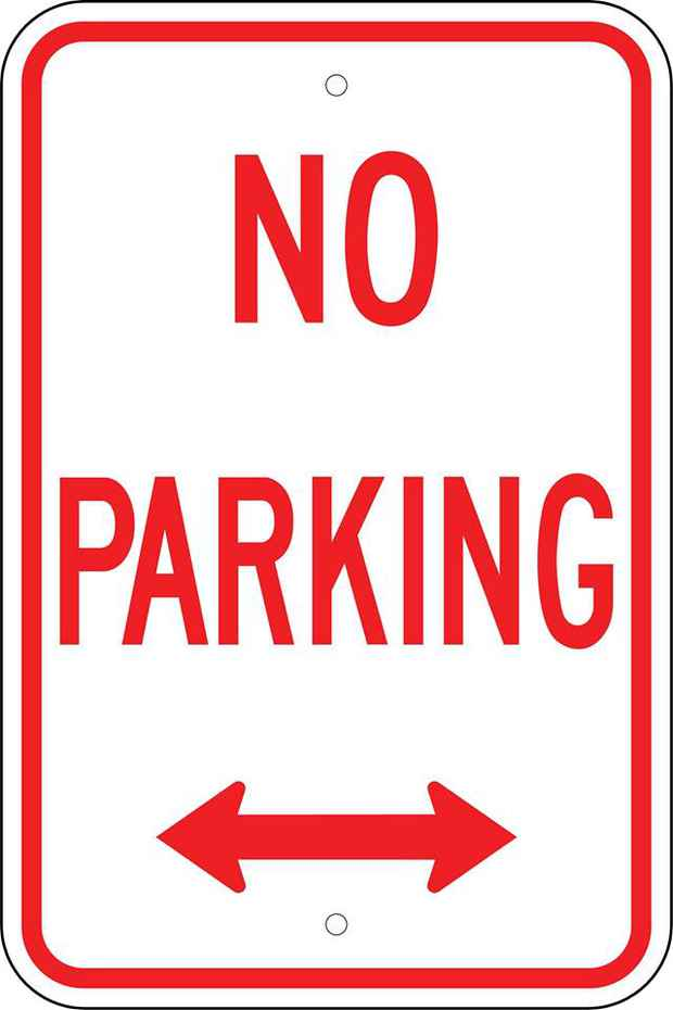 "poster for ""NO PARKING"" Exhibition"