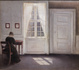 "poster for ""Painting Tranquility: Masterworks by Vilhelm Hammershøi"" Exhibition"
