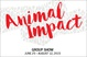 "poster for ""Animal Impact"" Exhibition"