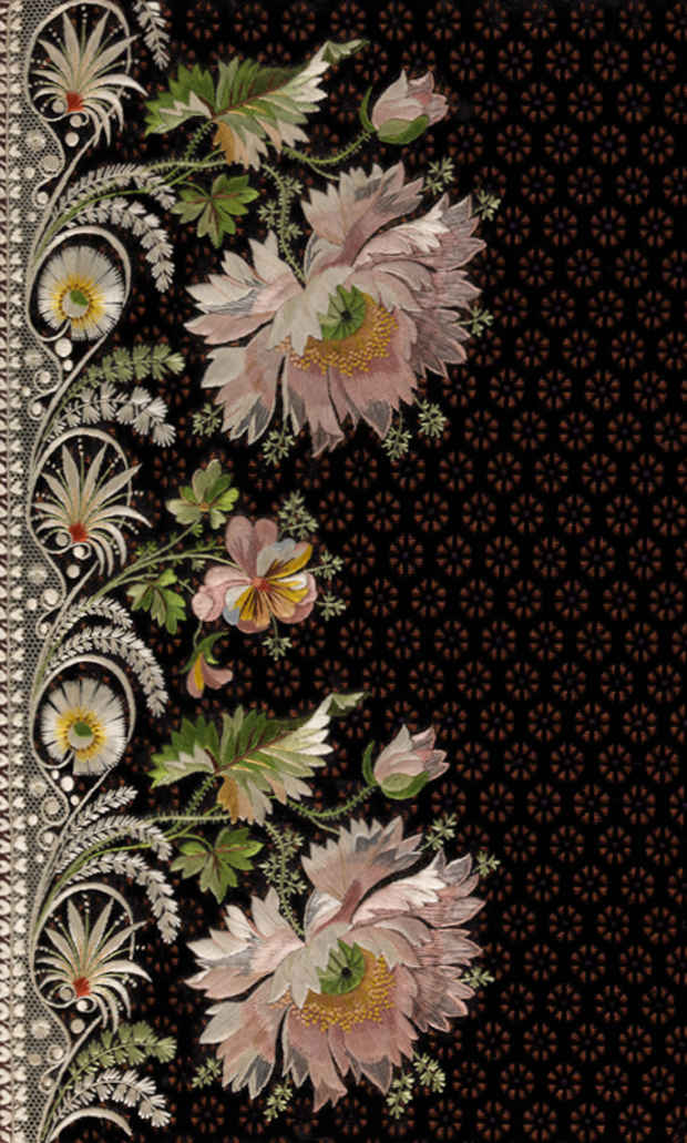 "poster for ""Elaborate Embroidery: Fabrics for Menswear before 1815"" Exhibition"