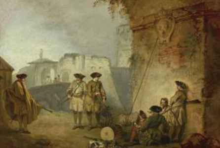 "poster for ""Watteau's Soldiers: Scenes of Military Life in Eighteenth-Century France"" Exhibition"