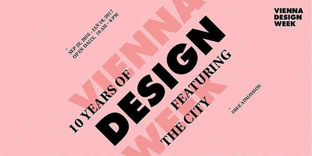 "poster for ""10 Years of VIENNA DESIGN WEEK"" Exhibition"