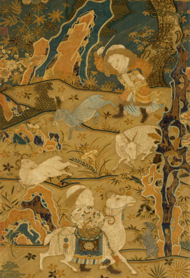 "poster for ""Chinese Textiles: Ten Centuries of Masterpieces from the Met Collection"" Exhibition"