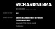 "poster for Richard Serra ""NJ1"""