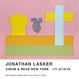 poster for Jonathan Lasker Exhibition