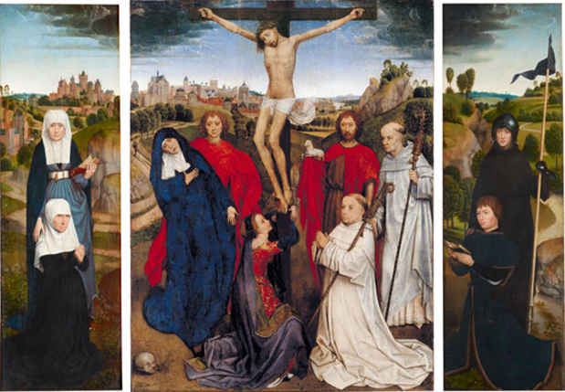 "poster for Hans Memling ""Portraiture, Piety, and a Reunited Altarpiece"""