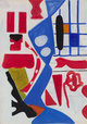 "poster for Shirley Jaffe ""Works on Paper"""