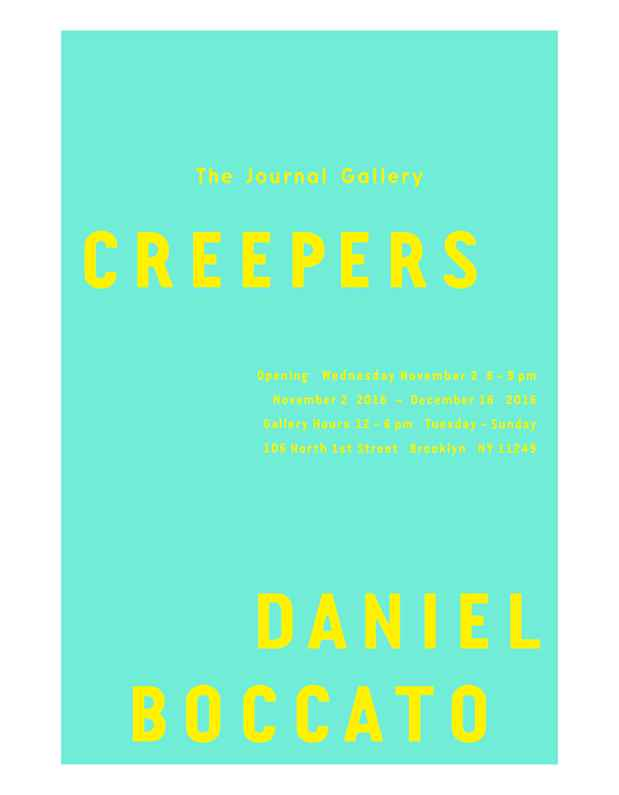 "poster for Daniel Boccato ""creepers"""