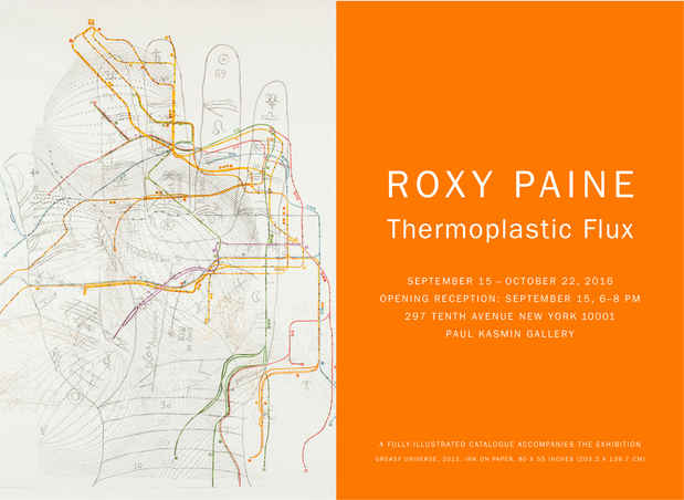 "poster for Roxy Paine ""THERMOPLASTIC FLUX"""
