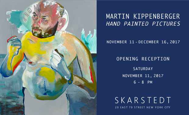 "poster for Martin Kippenberger ""Hand Painted Pictures"""