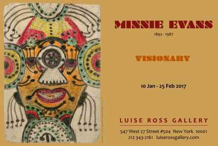 "poster for Minnie Evans ""VISIONARY"""