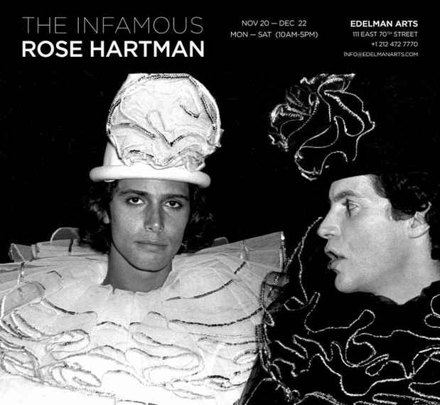 "poster for ""The Infamous Rose Hartman"" Exhibition"