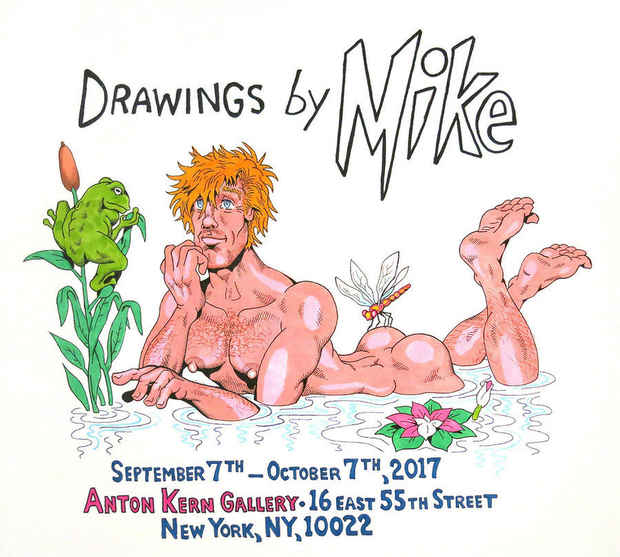 "poster for Mike Kuchar ""Drawings by Mike!"""