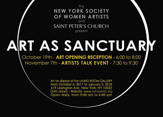 "poster for ""Sanctuary"" Exhibition"