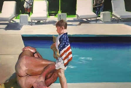 "poster for Eric Fischl ""Late America"""