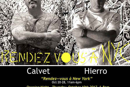 "poster for Jean Marc Calvet and Jean-Antoine Hierro ""Rendez-vous à New York"""