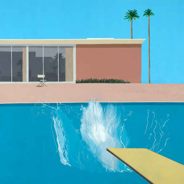 poster for David Hockney Exhibition