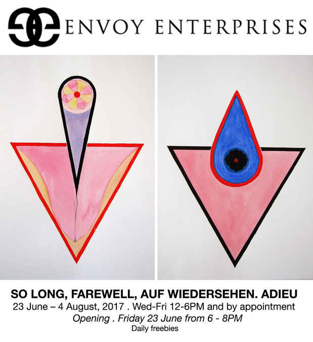 "poster for ""So Long, Farewell, Auf Wiedersehn, Adieu"" Exhibition"