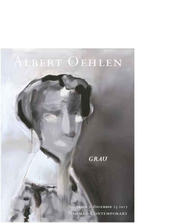 "poster for Albert Oehlen ""Grau"""