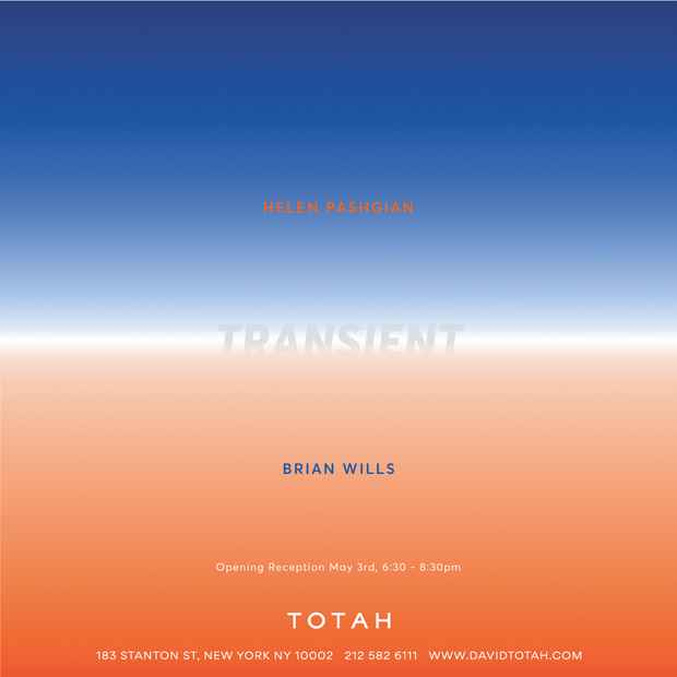 "poster for Helen Pashgian and Brian Wills ""Transient"""