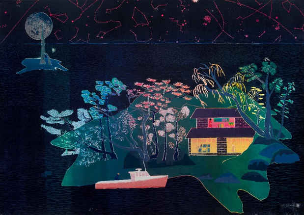 "poster for Tom Hammick ""Lunar Voyage"""