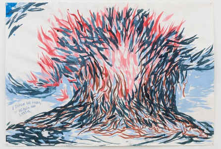 "poster for Raymond Pettibon ""A Pen of All Work"""
