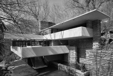 "poster for Ezra Stoller ""Photographs Frank Lloyd Wright Architecture"""