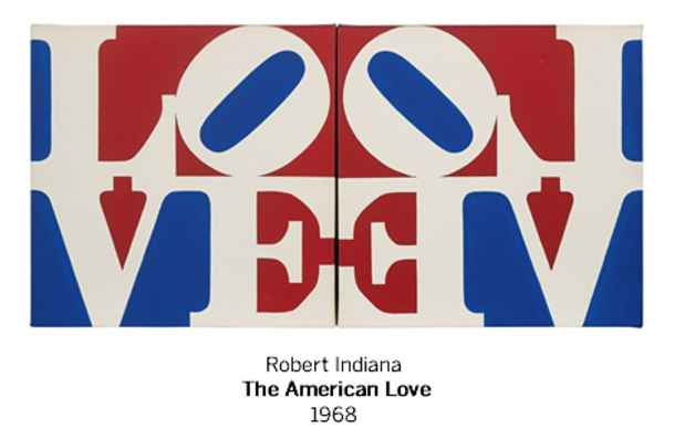 "poster for Robert Indiana ""Works from the Collection of Herbert Lust"""