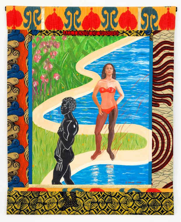 "poster for Emma Amos ""Black Bodies"""