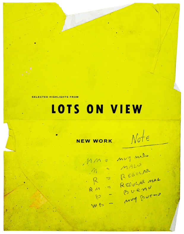 "poster for Ryan Brown ""Lots On View"""