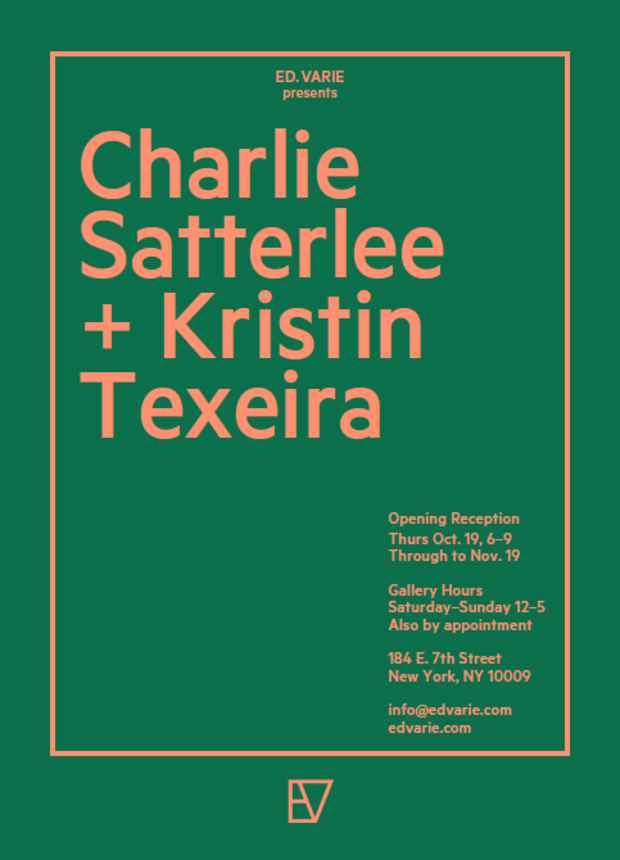 poster for Charlie Satterlee and Kristin Texeira Exhibition
