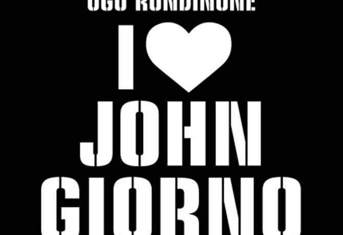 "poster for ""Ugo Rondinone: I ♡ John Giorno"" Exhibition"