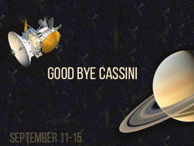 "poster for ""Goodbye Cassini"" Exhibition"