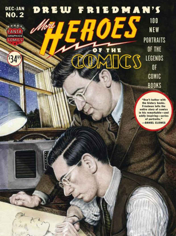 "poster for ""Heroes of the Comics"" Exhibition"
