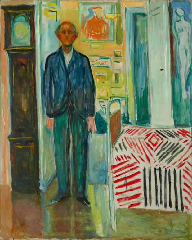 "poster for Edvard Munch ""Between the Clock and the Bed"""