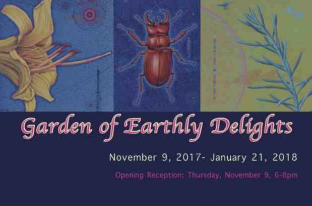 "poster for ""Garden of Earthly Delights"" Exhibition"