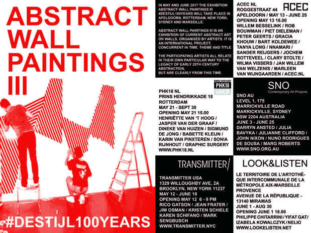 "poster for ""Abstract Wall Paintings Iii #Destijl100Years"" Exhibition"