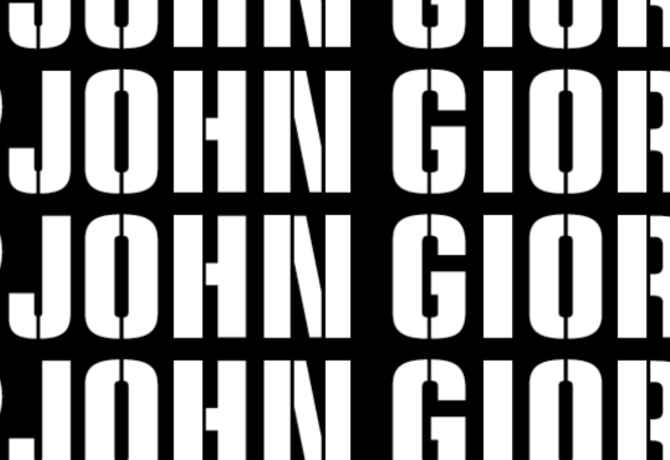 "poster for ""Ugo Rondinone: I ♥ John Giorno"" Exhibition"