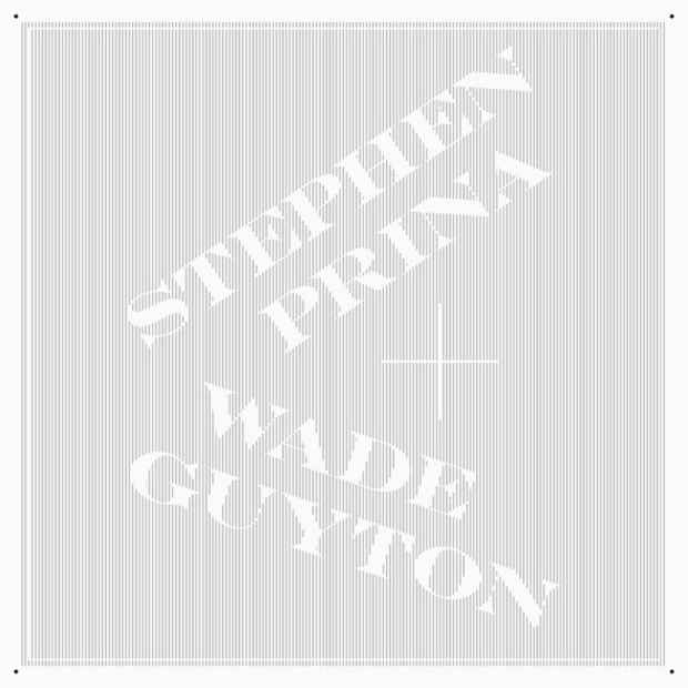 poster for  Wade Guyton and Stephen Prina Exhibition