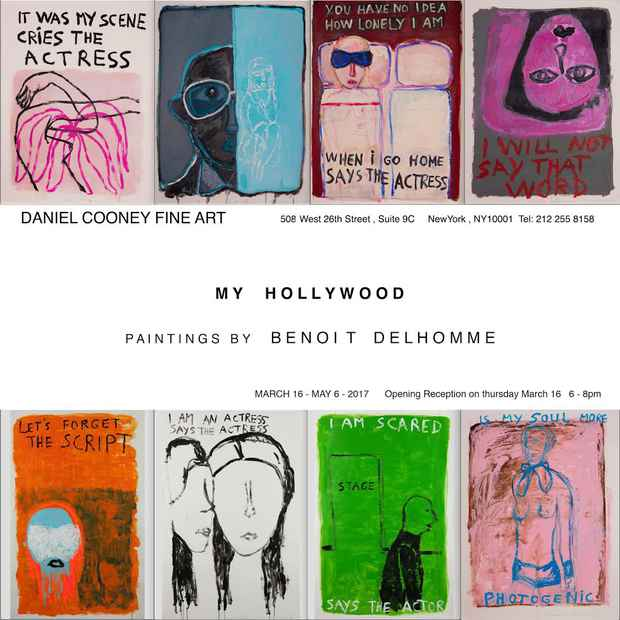 "poster for Benoit Delhomme ""My Hollywood"""
