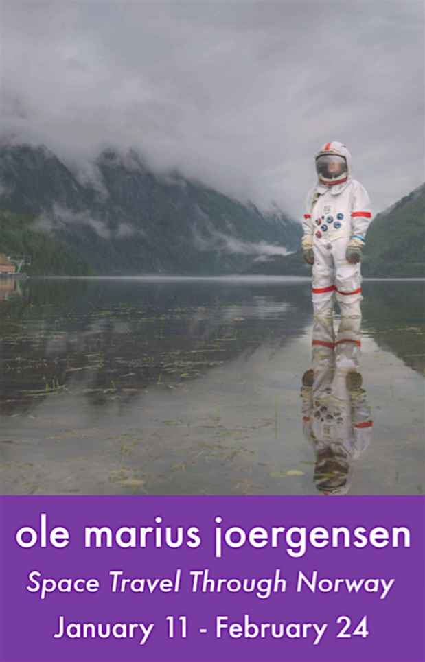 "poster for Ole Marius Joergensen ""Space Travel Through Norway"""