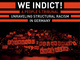 "poster for ""We Indict!"" Exhibition"