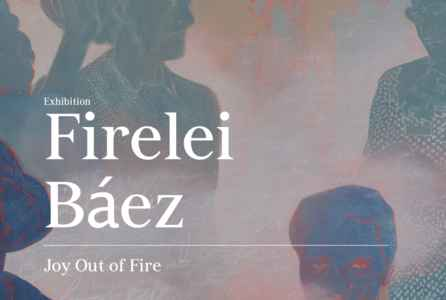 "poster for Firelei Báez ""Joy Out of Fire"""